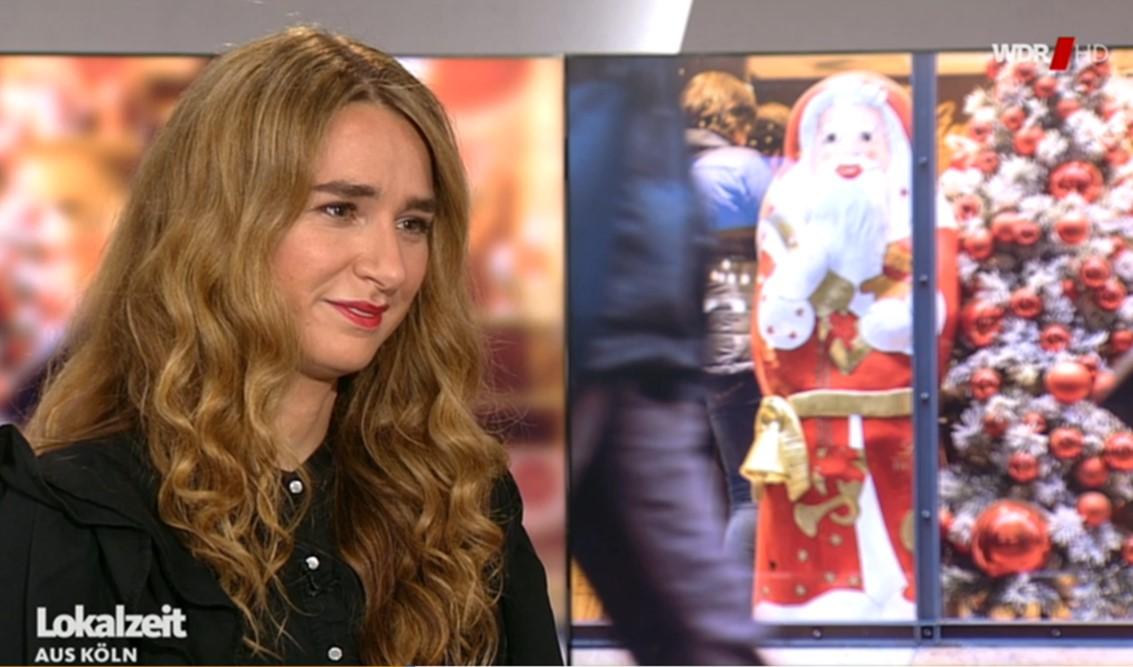 Carmen Schenkel in der WDR Lokalzeit Köln