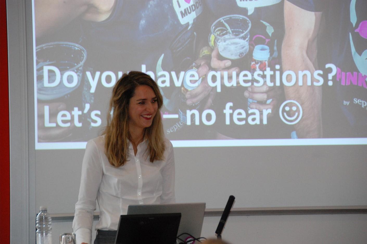 Carmen Schenkel auf dem ESOMAR Career Event in Pforzheim