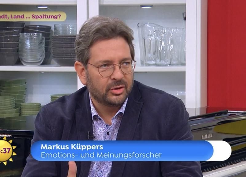 Wahlergebnisse Bundestagswahl 2021:  Markus Küppers beim Sat.1 Frühstücksfernsehen.
