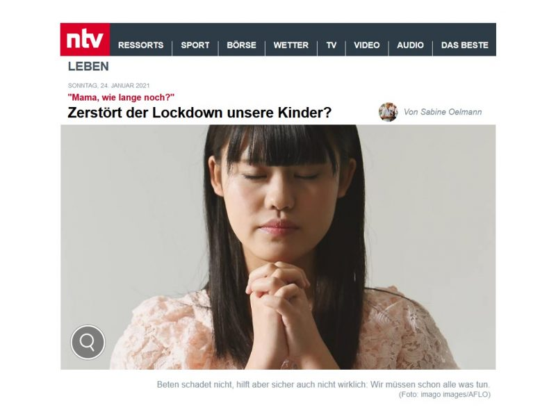 september bei ntv: das Dilemma der Generation Lockdown